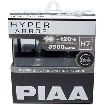 PIAA Hyper Arros 3900K H7 - o 120 procent vyšší svítivost, zvýšený jas (HE-903)