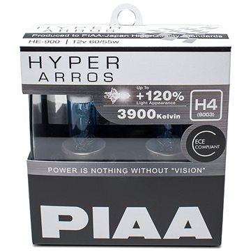 PIAA Hyper Arros 3900K H4 - o 120 procent vyšší svítivost, zvýšený jas (HE-900)