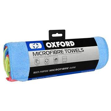OXFORD Sada 6-ti výběrových leštících utěrek z mikrovlákna (modrá/žlutá/červená) (M002-181)