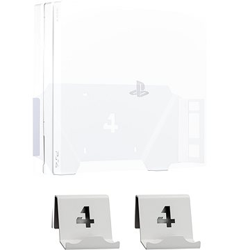 4mount - Wall Mount for PlayStation 4 Pro White + 2x Controller Mount (5907813300899)