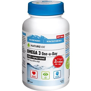 Swiss NatureVia Omega 3 One a Day 60 kapslí (3715142)
