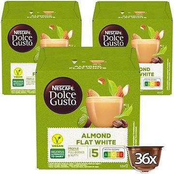 NESCAFÉ® Dolce Gusto® Almond Flat White – kávové kapsle – karton 3x12 ks (5000243800585)