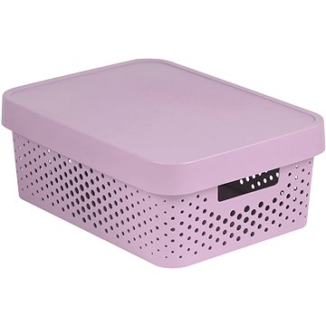 Curver INFINITY DOTS box 11L - růžový (04753-X51-00)