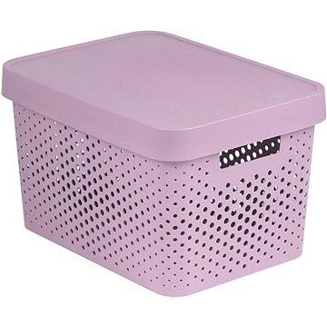 Curver INFINITY DOTS box 17L - růžový (04742-X51-00)