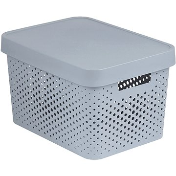 Curver INFINITY DOTS box 17L - šedý (04742-099-00)