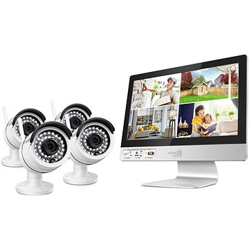 "iGET HOMEGUARD HGNVK49004, 4-kanálový HD NVR s LCD 12"" + 4x kamera HD 960p, IP66 (HGNVK49004)"