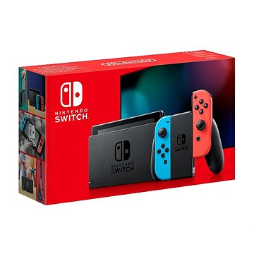 Nintendo Switch - Neon Red&Blue Joy-Con (045496452629)
