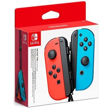Nintendo Switch Joy-Con ovladače Neon Red/Neon Blue (045496430566)