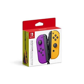 Nintendo Switch Joy-Con ovladače Neon Purple/Neon Orange (045496431310)