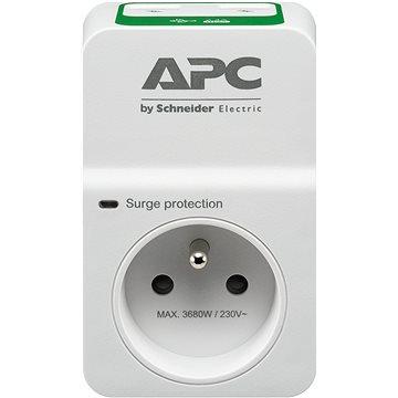 APC Základní ochrana proti přepětí SurgeArrest 1 výstup 230V, 2 nabíjecí porty USB, Francie (PM1WU2-FR)