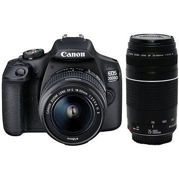Canon EOS 2000D + EF-S 18-55 mm f/3.5-5.6 IS II + EF 75-300 mm f/4-5.6 III (2728C017)