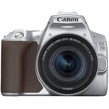 Canon EOS 250D stříbrný + 18-55mm IS STM (3461C001)