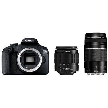 Canon EOS 2000D + 18-55mm DC III + 75-300mm DC III (2728C051)