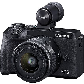Canon EOS M6 Mark II + 15-45 mm + hledáček EVF (3611C012)