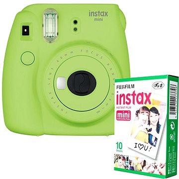 Fujifilm Instax Mini 9 limetkový + 10x fotopapír (70100141220)