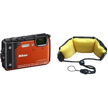 Nikon COOLPIX W300 oranžový + 2v1 plovoucí popruh (VQA071K003)