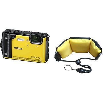 Nikon COOLPIX W300 žlutý + 2v1 plovoucí popruh (VQA072K003)