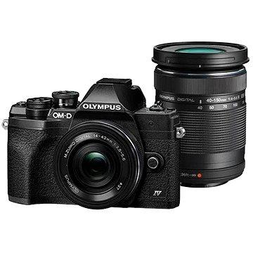 Olympus OM-D E-M10 Mark IV + ED 14-42 mm f/3.5-5.6 EZ + ED 40-150mm f/4.0-5.6 R černý (V207134BE000)