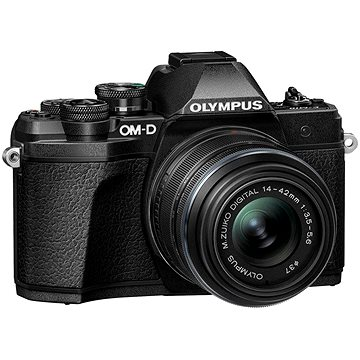 Olympus OM-D E-M10 Mark III S + 14–42 mm f/3.5–5.6 II R černý (V207111BE000)