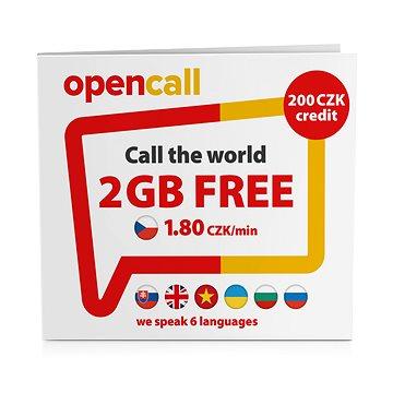 OpenCall Předplacená karta s kreditem 200Kč + 1GB na měsíc zdarma (SMALLPO2N.200OC7)