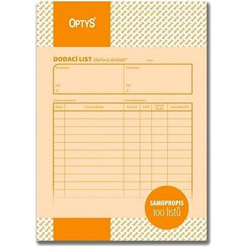 OPTYS 1077 Dodací list (1077)
