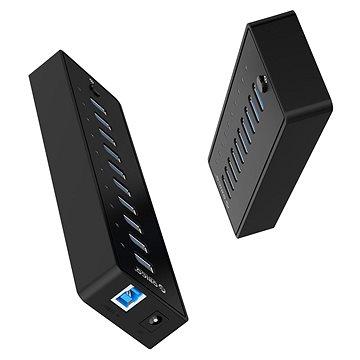 Orico USB-A Hub 10xUSB 3.0 with power suply (P10-U3-V1-EU-BK-BP-CZ)