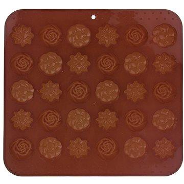 ORION Forma silikon na čokoládu KYTIČKY 30 hnědá (151736)