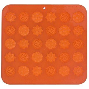 ORION Forma silikon na čokoládu KYTIČKY 30 oranžová (151737)