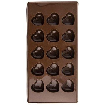 Forma silikon na čokoládu SRDCE 15 - HNĚDÁ (120050)