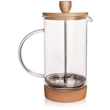 Konvice sklo/nerez/bambus kafetier CORK 0,4 l (152598)