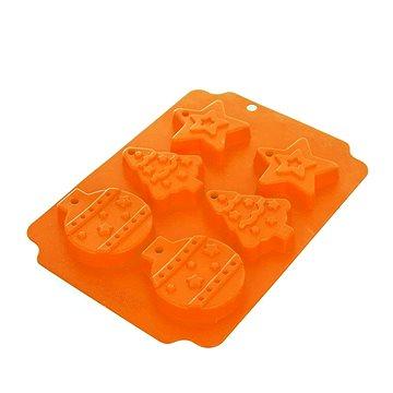 Forma silikon VÁNOCE 6 oranžová (120036)