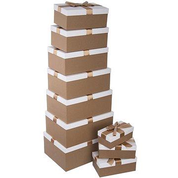 Krabice papír dárková zlatá/bílá 10 ks (822695)