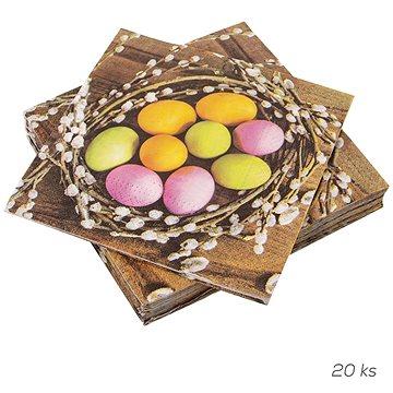 ORION Ubrousek papír Vajíčka v hnízdě 20 ks 33x33 cm (841880)