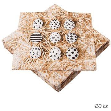 ORION Ubrousek papír Malá vajíčka 20 ks 33x33 cm (841882)