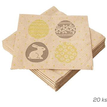 ORION Ubrousek papír Vajíčka a zajíček 20 ks 33x33 cm (841890)