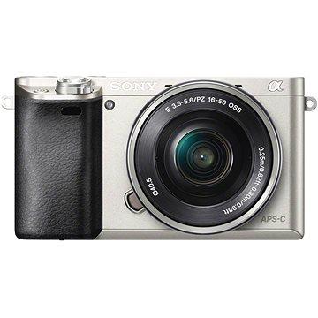 Sony Alpha A6000 stříbrný + objektiv 16-50mm (ILCE6000LS.CEC)