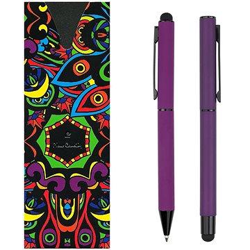 PIERRE CARDIN CELEBRATION sada kuličkové pero + roller, fialová (B0401004IP3)