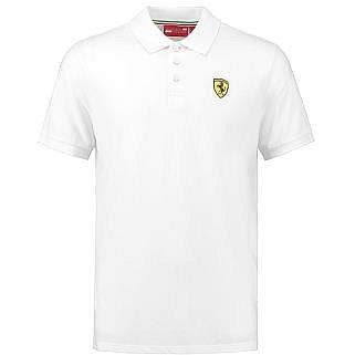 SCUDERIA FERRARI|Ferrari pánské tričko polo bílé||S (10885-S)