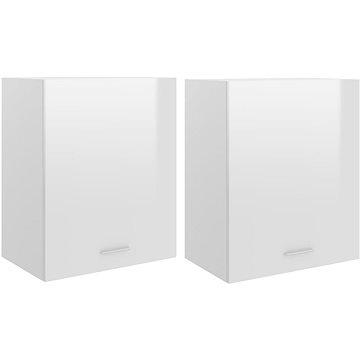 Kuchyňské skříňky 2 ks bílé vysoký lesk 50x31x60 cm dřevotříska 805083