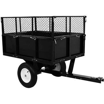 Sklápěcí přívěsný vozík za zahradní traktor nosnost 300 kg 145813