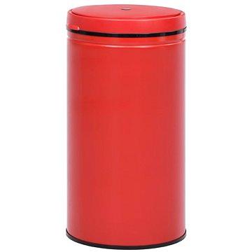Odpadkový koš s automatickým senzorem 80l uhlíková ocel červený 322709