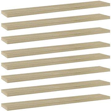 Přídavné police 8 ks dub sonoma 60 x 10 x 1,5 cm dřevotříska 805209