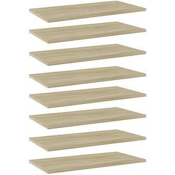 Přídavné police 8 ks dub sonoma 60 x 30 x 1,5 cm dřevotříska 805241