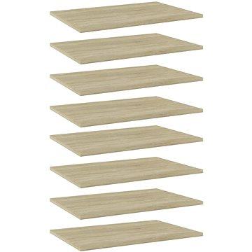 Přídavné police 8 ks dub sonoma 60 x 40 x 1,5 cm dřevotříska 805257