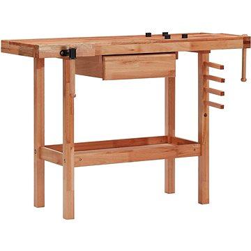 Truhlářská hoblice se zásuvkou a 2 svěráky tvrdé dřevo 147842