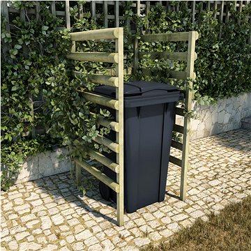 Přístřešek na popelnici zelený 70x80x150cm impregnace borovice 45443