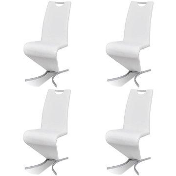 Jídelní židle 4 ks bílé umělá kůže 270794
