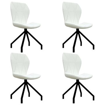 Jídelní židle 4 ks bílé umělá kůže 3053361
