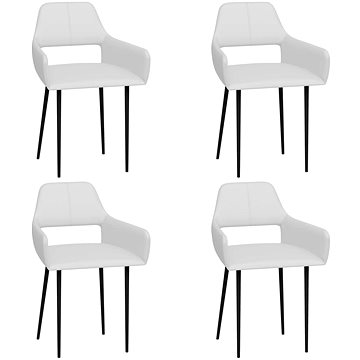 Jídelní židle 4 ks bílé umělá kůže 3058027