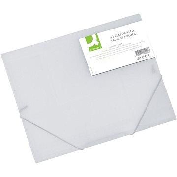 Q-CONNECT A3 s klopami a gumičkou, transparentně bílé (KF15290)
